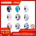 32 estilos Real 925 Plata de Ley effervescent Murano cuentas de vidrio ajuste pulsera de encanto Original auténtica joyería S925