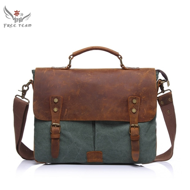 2017 New Military Business Messenger Bag Vintage Daily Travel Shoulder For Laptop Korean Vogue Hipster