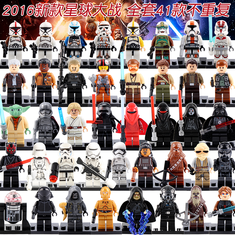 Single Figures Star War Darth Vader R2D2Leia Boba Fett Clone Trooper Kylo Ren XH Mini Blocks Building XINH Toys mini qute kawaii wise hawk star war darth vader x wing starfighter r2d2 yoda building blocks brick model figures educational toy