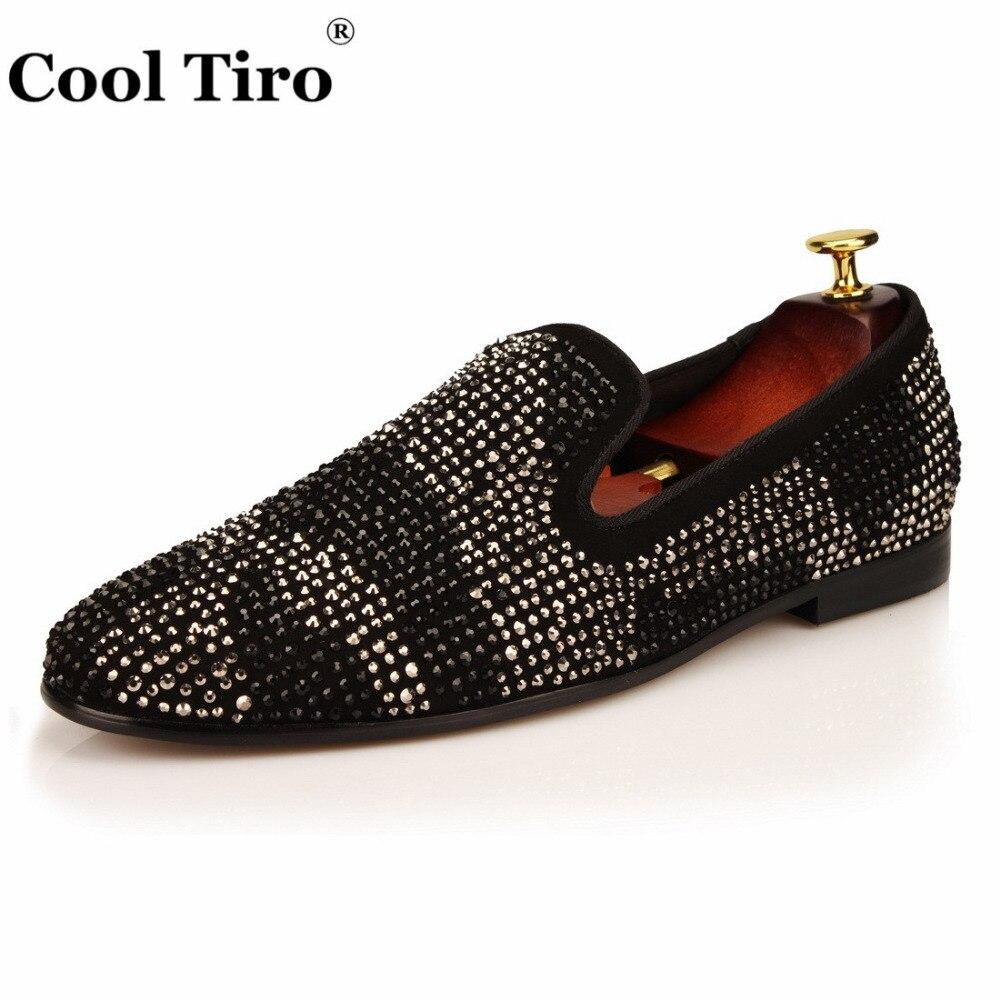 สีดำหนังผู้ชายโลฟเฟอร์เสือดาวS Trassรองเท้าแตะรองเท้าหนังนิ่มชายเสื้อผ้ารองเท้าR Hinestonesคริสตัลรองเท้าสบายๆแบนจริงหนัง-ใน รองเท้าลำลองของผู้ชาย จาก รองเท้า บน   3