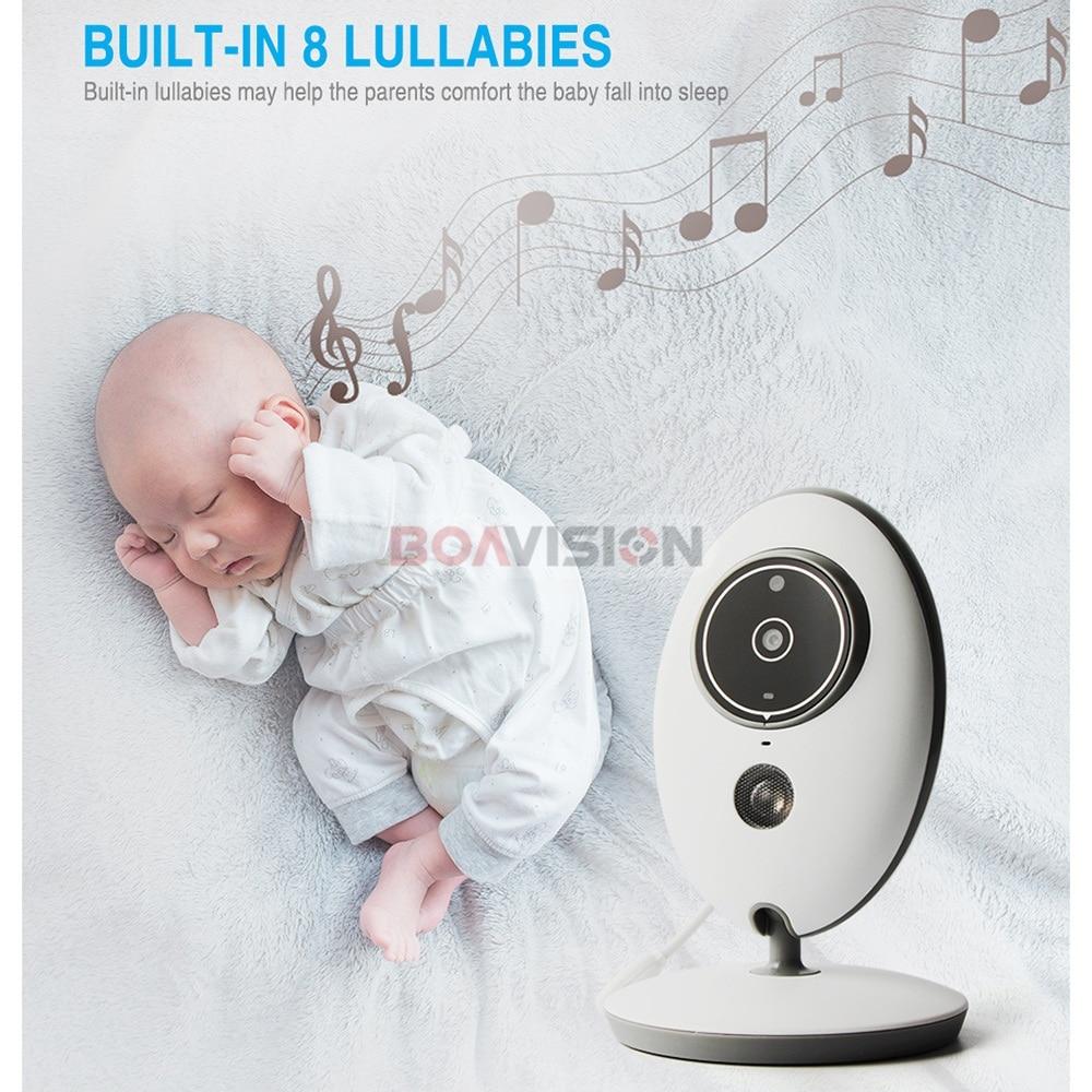 Inalámbrico LCD Audio Video Monitor de bebé VB605 Radio niñera música intercomunicador IR 24 h portátil Cámara bebé Walkie Talkie niñera - 4