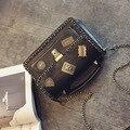Марка оригинальный дизайн старинные случайный цепи кольцо дамы партия кошелек женщины известный дизайнер плеча crossbody сумки