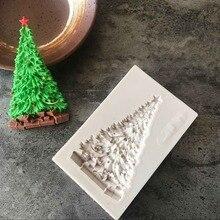 1 шт Рождественская елка силиконовая форма помадка форма для украшения торта инструменты форма для шоколадной мастики B064