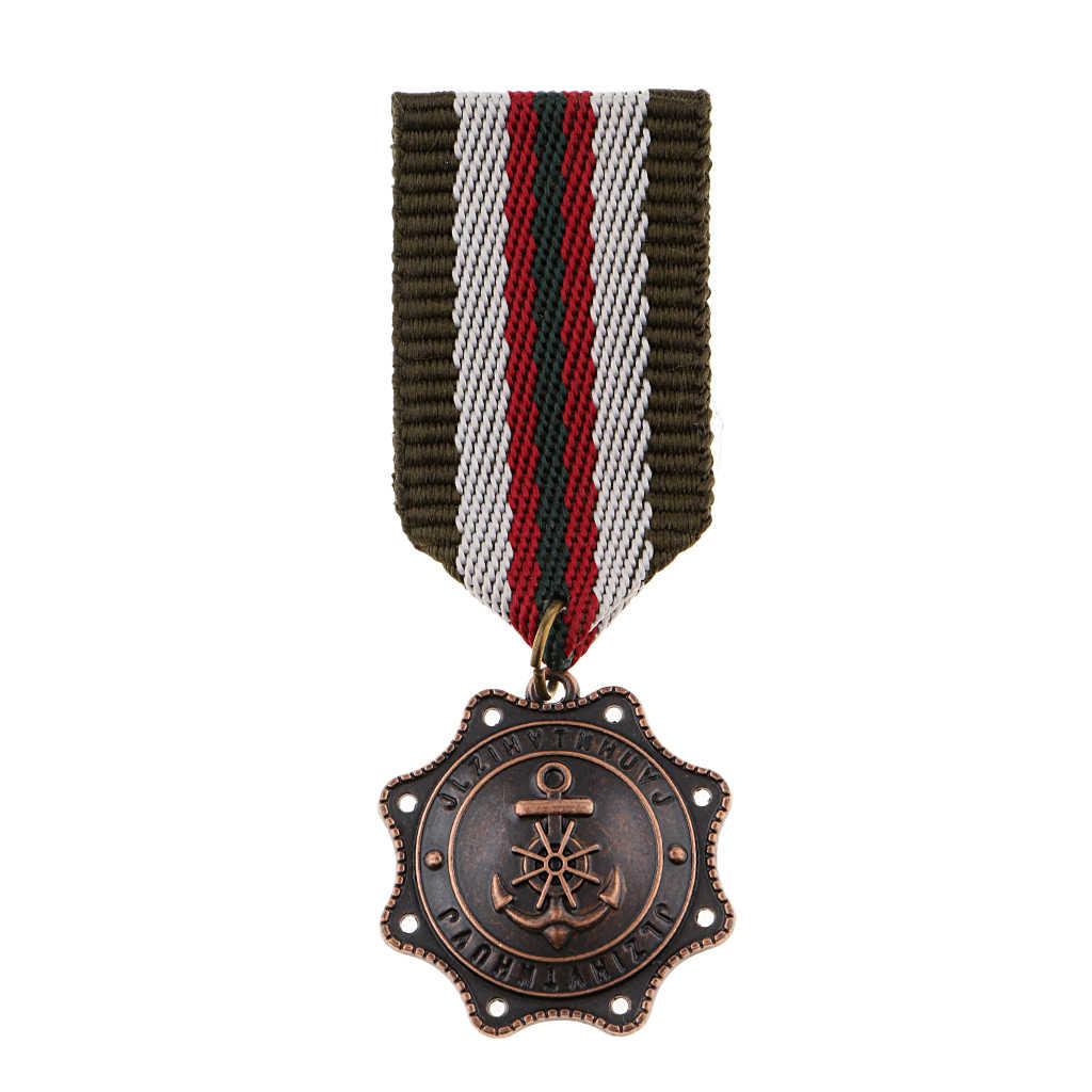 Pria Vintage Seragam Medali Bros Safety Kembali Pin Nautical Jangkar Liontin Modis Hadiah untuk Perjamuan Pakaian Pernikahan