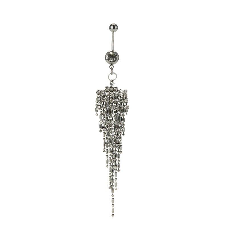 HTB1dC0DOVXXXXXiapXXq6xXFXXX2 Womens Body Piercing Jewelry Navel Ring With Luxurious Crystal Chain Tassels