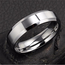 2015 new Luxury 6MM Titanium Band Brushed Wedding Stainless Steel Solid Ring Men Women