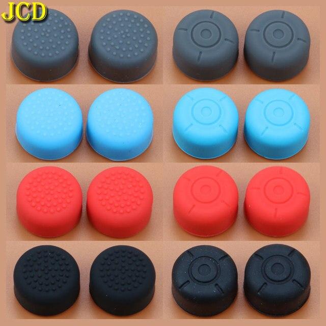 JCD 2 chiếc Silicone Chống Trượt Tăng Cường Cần Điều Khiển Dính Mũ Lưỡi Trai Nintend Switch NS Joy Con Bộ Điều Khiển Tăng cần điều khiển Cầm Bao Da