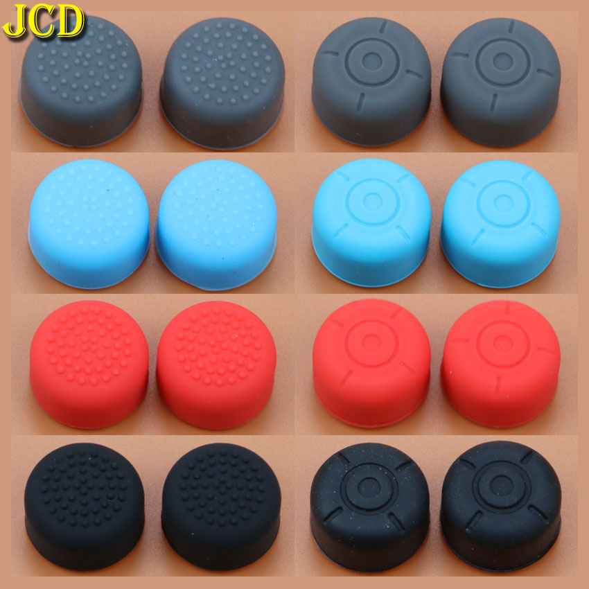 JCD 2pcs Silicone Anti Slip Enhanced Joystick Stick Caps For Nintend Switch NS Joy Con Controller Increase Joystick Grips Cover-in Replacement Parts & Accessories from Consumer Electronics