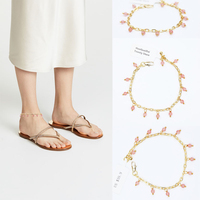 2018 Direct Selling Real Trendy Copper Women Leg Bracelet Anklet Foot Jewelry Beach Wedding Bridesmaid Gift Handcrafted Dainty