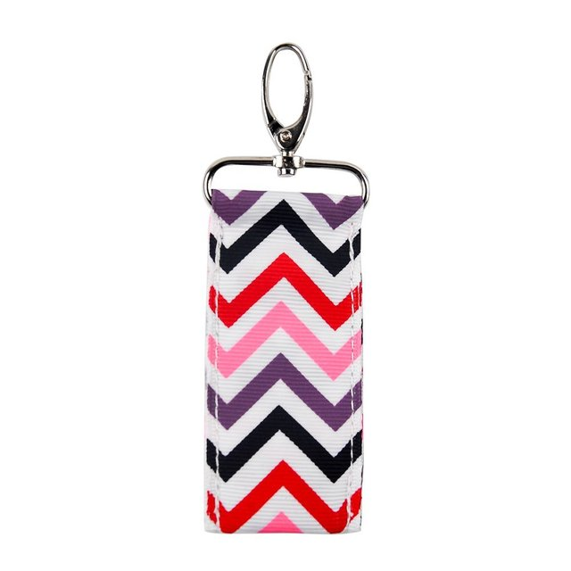 0fc2c223fc79 12 Colors Blank Chevron Chapstick Holder Key Fobs Keychains For Lady  Perfect Quality Women Lipstick Holder Bag (10pcs lot)