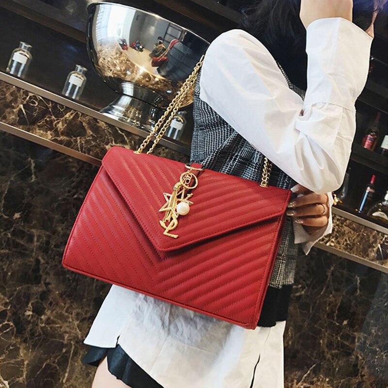 Marque de luxe Logo PU cuir femmes chaîne épaule célèbre conception dames Paris Messenger Vintage sacs à bandoulière canaux sacs à main