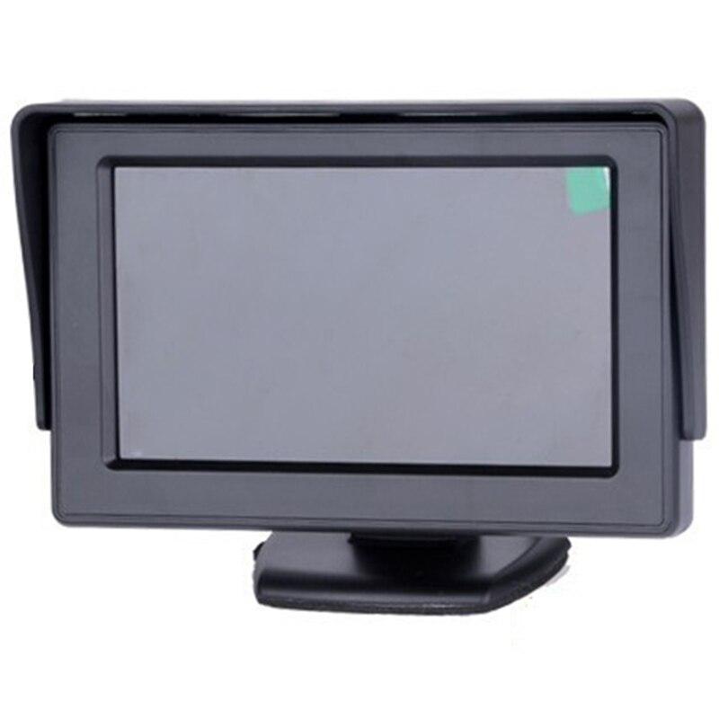 Авто Парковочные системы 4,3 дюймов TFT ЖК-дисплей автомобиля Зеркало заднего вида монитор с 7 ИК Ночное Видение заднего вида Обратный Камера