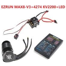 Hobbywing EzRun Max8 v3 T / TRX Plug Waterproof Brushless ESC + 4274 2200KV Moto