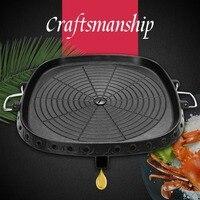 BRS 25 outdoor picnic portable pot Korean non stick barbecue plate camping barbecue card furnace iron plate smokeless gas