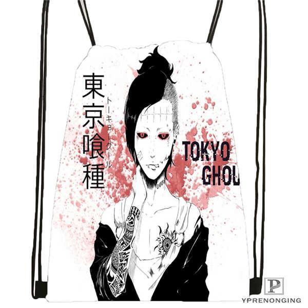 Custom Tokyo_ghoul_ @2  Drawstring Backpack Bag Cute Daypack Kids Satchel (Black Back) 31x40cm#20180611-02-100
