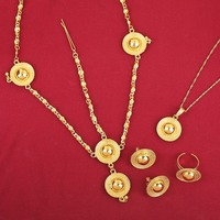 Top Brand Romantical 24K Gold Plated Jewelry Sets For African Ethiopian Eritrean Women
