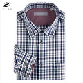 ZIYU Brand 100% Cotton Fashion New Men's Shirt Plaid Long Sleeved Shirt Slim Fit High Quality Spring Autumn Business Shirt