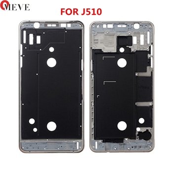 LCD Front Frame Bezel Housing Outer Middle Frame+Power Volume Side Button For Samsung Galaxy J5 J7 2016 J510 J710 image