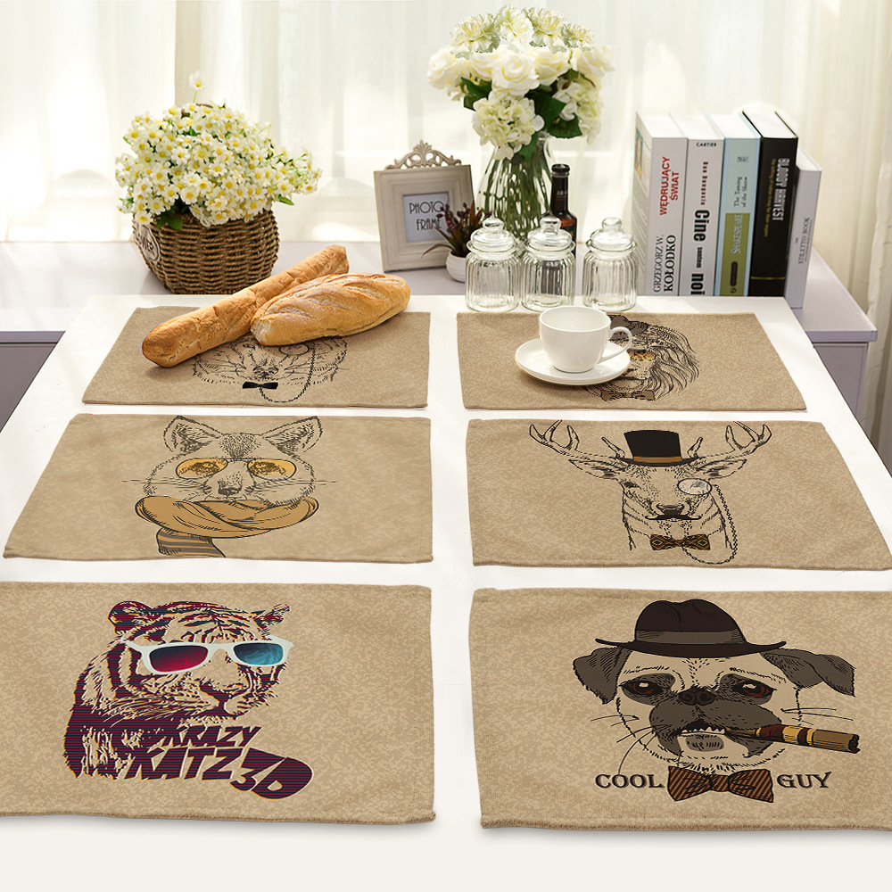 Cammitever coffee dinner mat cartoon animals creative anti skid cammitever coffee dinner mat cartoon animals creative anti skid table pad insulation cooking kitchen placemat tablemat antiscald in mats pads from home geotapseo Gallery