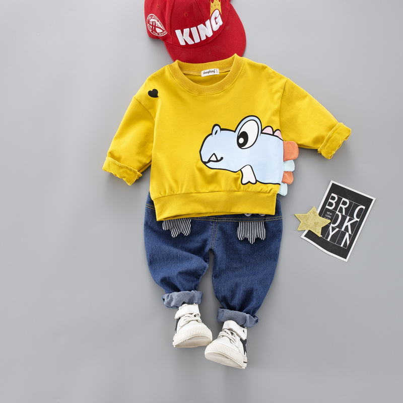 2019 Hot Kids Baby Boy Girl Cartoon Clothes Set Cute Toddler Clothes Spring Fall Cotton Casual Suit For Boy Infant 1-4 Years2019 Hot Kids Baby Boy Girl Cartoon Clothes Set Cute Toddler Clothes Spring Fall Cotton Casual Suit For Boy Infant 1-4 Years