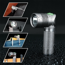 UniqueFire V4-A Super MINI LED Flashlight Angle Shape Design XPE 250 LM 90 Degree Light Rechargeable For Camping,Hunting