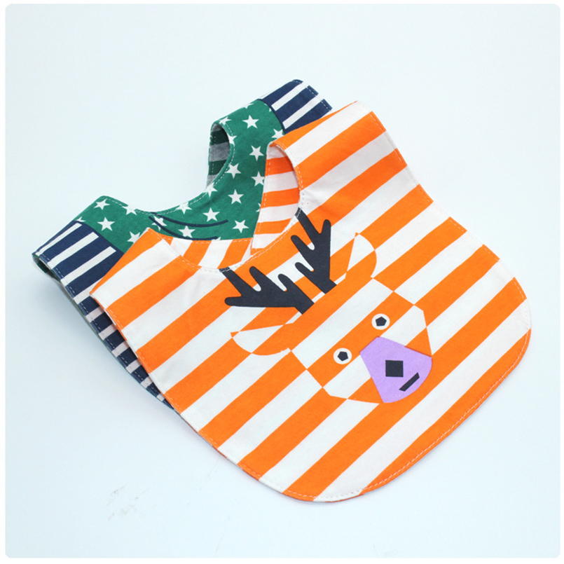 Double Side Bib Cartoon Cotton Baby Bibs Infant Waterproof Babador Bandana Bib for Infant Feeding Towel Saliva Scarf Cheap Stuff