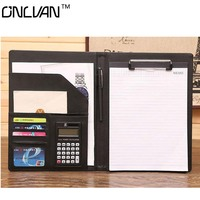 A4 New Design Manager Folders PU Leather Padfolio File Document Holder Manager Holders Office Supply Business