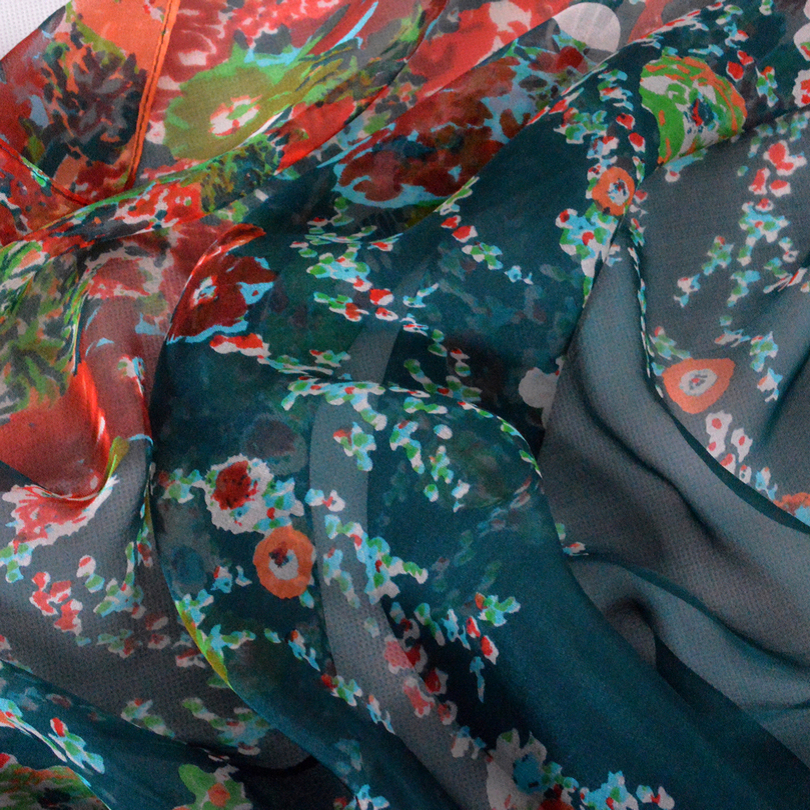 [BYSIFA] Winter Dark Green Silk Schal Neue Marke 100% Naturseide - Bekleidungszubehör - Foto 6
