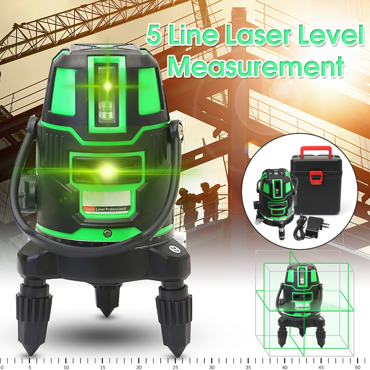 Brand New 5 line 6 point Green laser level Outdoor 360 degree rotary cross laser line level a8832g akg2 green laser level 2 lines1dot 360 degree rotary spirit level indoor outdoor dual use