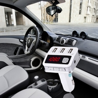 Phone Audio Player HiFi Bluetooth FM Quick Charging Wireless FM Car HandsFree LED Volt Display 3USB