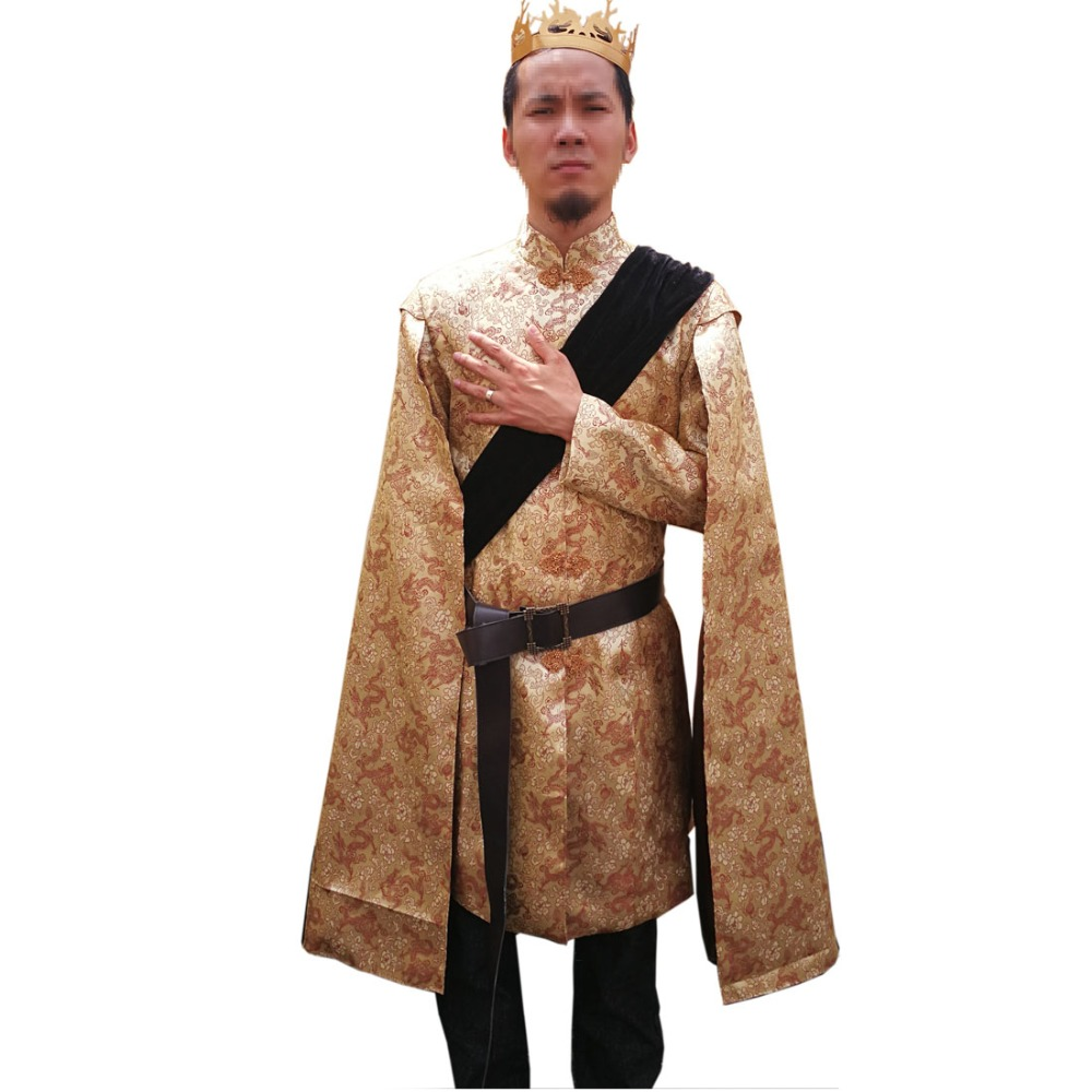 2018 Game of Thrones King Prince Joffrey Baratheon Medieval Mens Cosplay Costume Outfit Robe Custom Made
