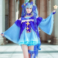 New Vocaloid Hatsune Miku Cosplay Costume Snow Fancy Dress Full set Carnival Halloween Costumes for Women S-XL