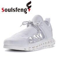 Soulsfeng летние кроссовки для женщин и мужчин спортивные кроссовки модные повседневные кроссовки дышащие будущее 3D ажурные быстросохнущие ту