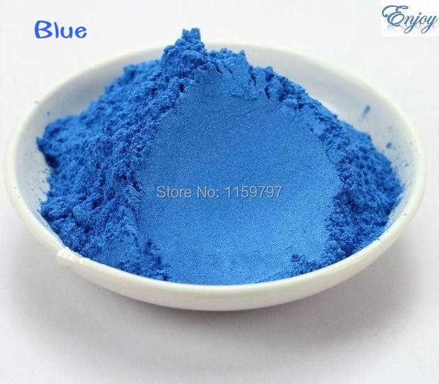 Tinte de color azul Polvo de Mica Mineral Natural DIY Para El Jabón Jabón Colorante Jabón En Polvo de maquillaje Sombra de Ojos