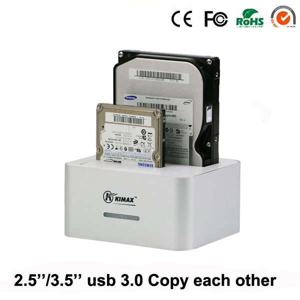 usb 3.0 desktop external hdd case caddy ssd hdd 2.5 3.5 Inch cd case 2 Bay up to 4TB per with copy each other