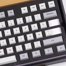 Kbdfans nouveauté colorant subbed dsa pbt keycaps mise en page nordique iso dsa profil pour clavier mécanique de jeu usb