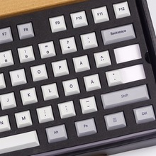 Kbdfans nova chegada tintura subbed dsa pbt keycaps layout nórdico iso dsa perfil para teclado mecânico de jogos usb