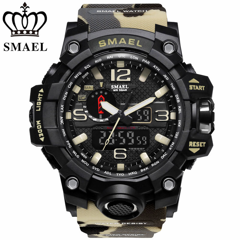 Analog Quartz Digital LED Sports Watches Men's Military Clock Waterproof Wrist Watch