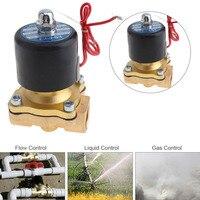 1/2 ''AC220V AC110V DC12V DC24V латунный Электрический электромагнитный клапан с двухсторонним двухпозиционным для воды/масла/газа