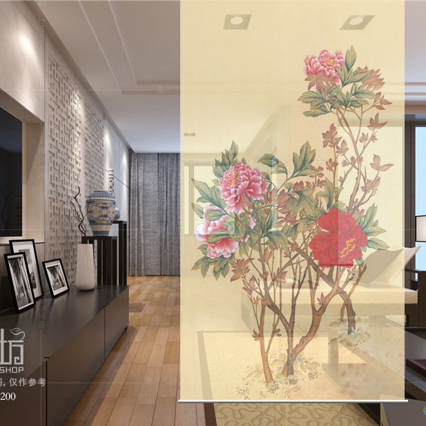 100cmx200cm Biombo Hanging Wall Panels Entrance Curtain Soft Parion Stylish Living Room Guabing Flowers