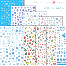 Nail Art Sticker for Christmas Self-sticking Stickers F Series Decal Self-adhesive Decoration Press on Nails N30BF