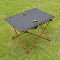 Foldable Camping Picnic Tables Portable Compact Lightweight Folding Roll-up Table Barbecue Picnic Table