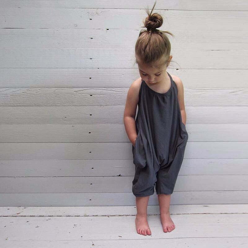 Дети Девушки Летняя Мода Спортивные Костюмы Хлопка Слинг Рукавов Комбинезоны Детская Одежда