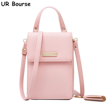 UR BOURSE New Arrival Womens Shoulder Bag Cellphone Ladies Handbag Fashion Messenger Female Multi-function Tasse wallet