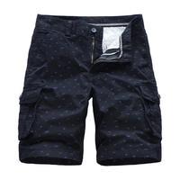 Men Shorts 2019 Hot Sale Summer Fashion Elastic Solid Dot Print Cotton Short Pants Men Casual Plus Size Loose Knee Length Shorts