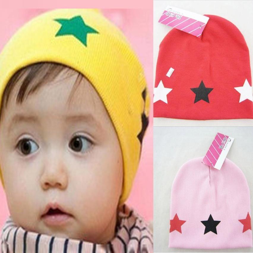Spring autumn Cotton Baby Hat Print Star Baby Beanie For Boys Girls Cotton Hat Children Winter Hats lowest price