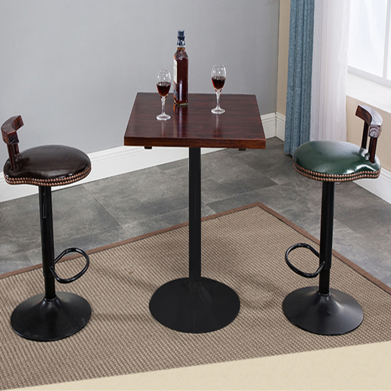 Us 81 33 17 Off Bar Table Chair Solid Wood High Stools Long Tables And Chairs Combination Simple Home American Round In