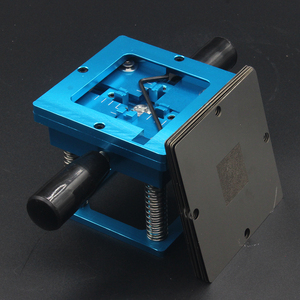 Image 4 - Mavi BGA reballing kiti 90*90mm BGA reballing istasyonu el sapı ile hediye 10/adet BGA evrensel şablon