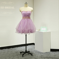 A Line Tulle Beaded Short Prom Dress Corset Back Graduation Party Dress Formal Gown For Teen