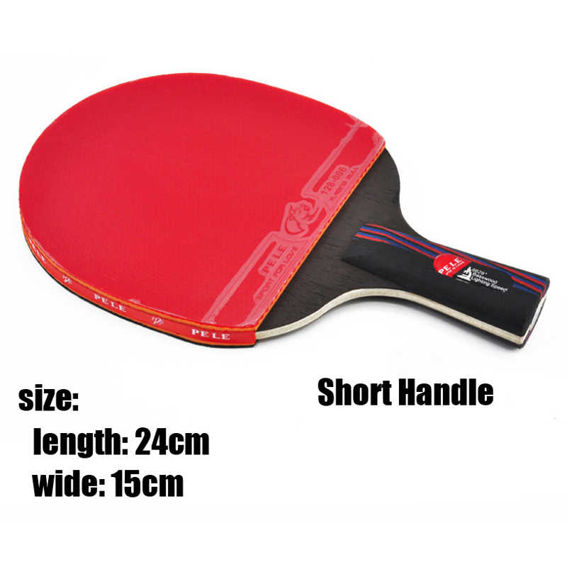 Professional Carbon Fiber Table Tennis Racket Blade Rubber With Double Face Pimples-in Ping Pong paddle High-quality With Bag
